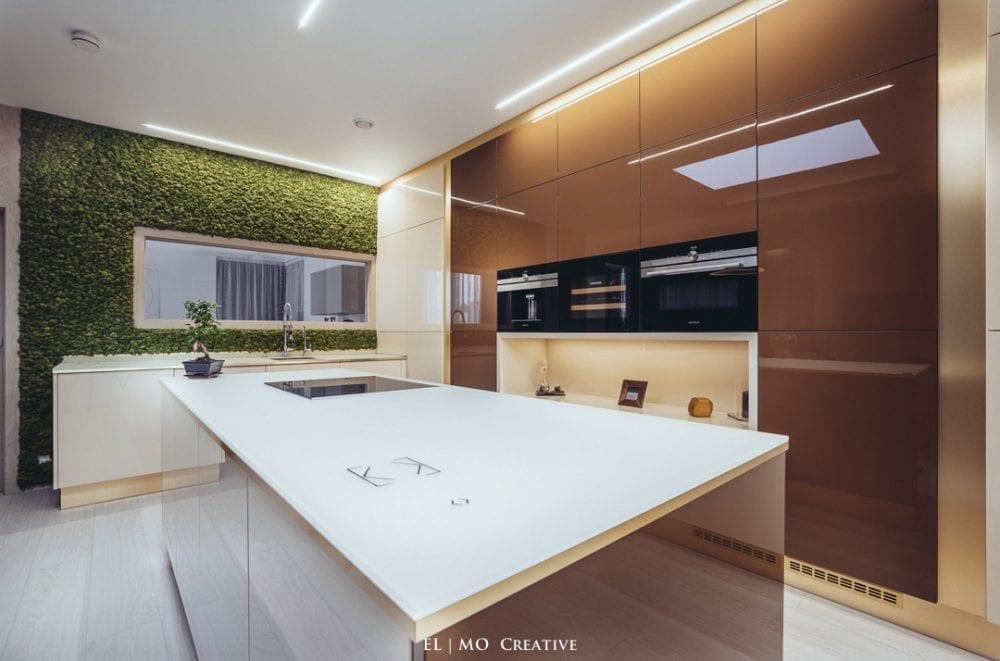 Machova stena v kuchyni