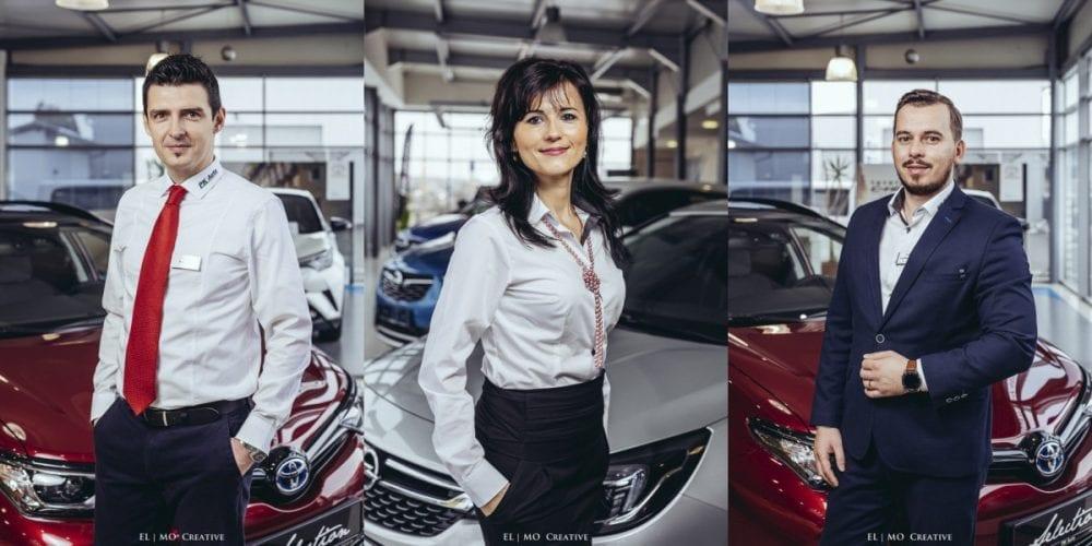 Firemny portret auto showroom