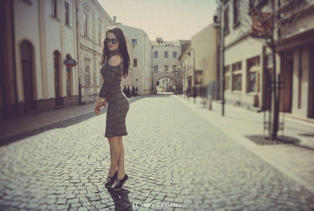Zensky portret v meste